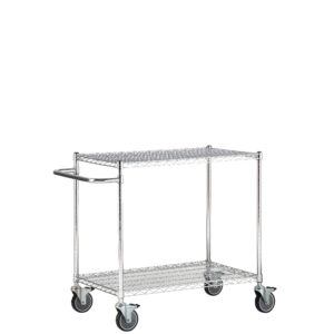 Chrome Wire Carts with Push Handle