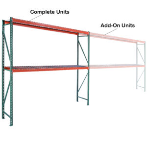Complete Units with Wire Decking - 6' High