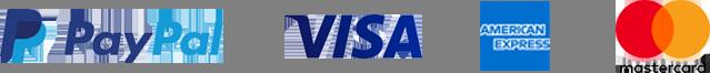 PayPal, Visa, American Express, MasterCard